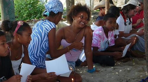 actividad en la playa con deseo colectivo